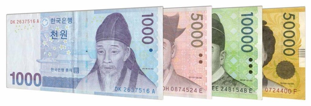 Exchange some Korean money.