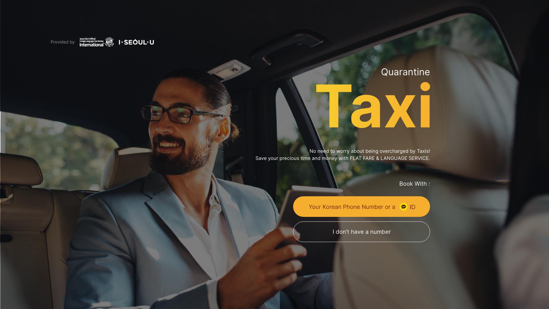 quarantine international taxi - Korea