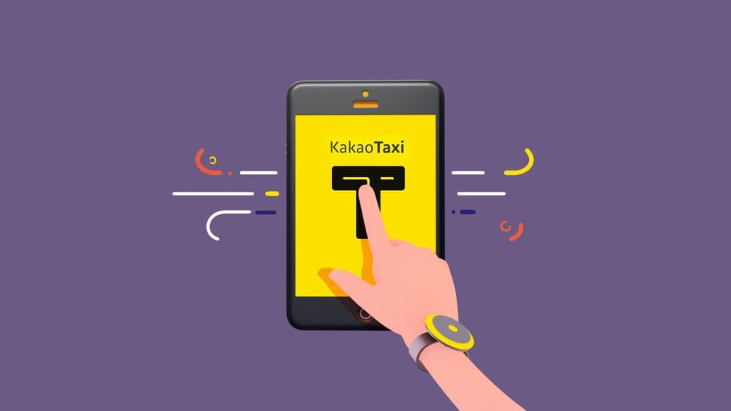 kakao taxi app on the phone