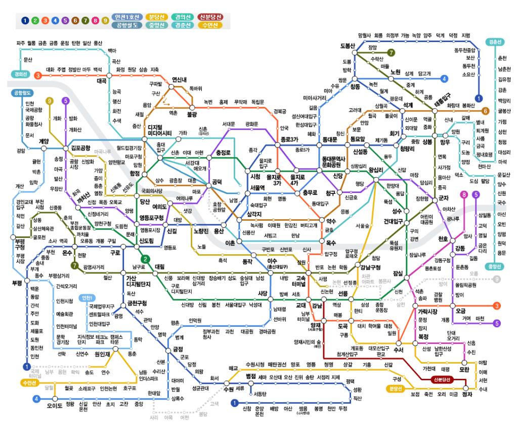 korea metro line picture